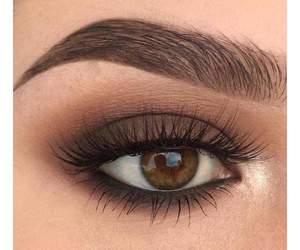 makeup, beautiful, and brown image