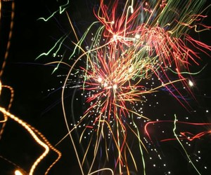 black, fireworks, and magical image