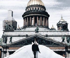 architecture, girl, and beauty image