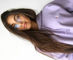 girl, glasses, and beauty image