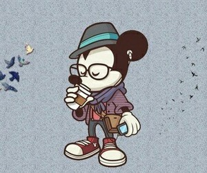 hipster, mickey, and disney image