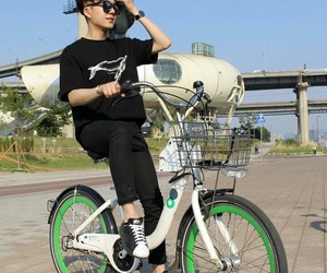 asia, asian, and bicicle image