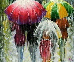art, Oil Painting, and umbrella image