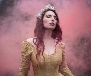 model, crown, and princess image
