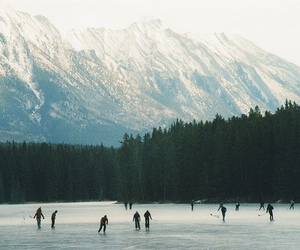 winter, mountains, and ice image