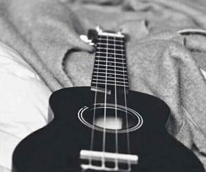 guitar, music, and black image