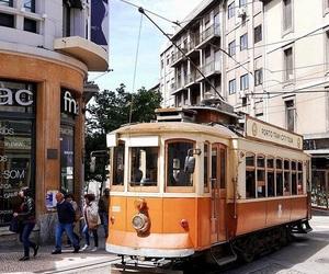 porto, portugal, and tram image