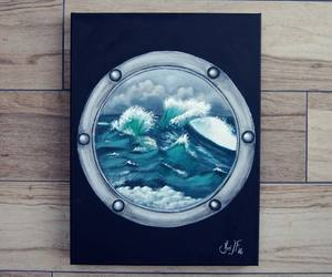 acrylic, art, and ocean image