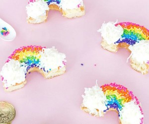 colourful, dessert, and donut image