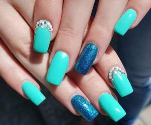 glitter, nails, and green image