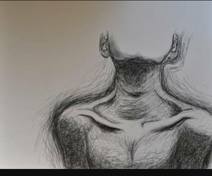 body, drawing, and collar bone image
