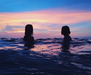 girl, beach, and pretty image