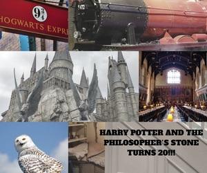 anniversary, hogwarts, and hogwarts express image