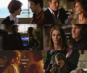 beckett, smile, and castle image