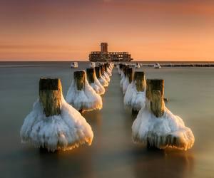 ice, sea, and Poland image