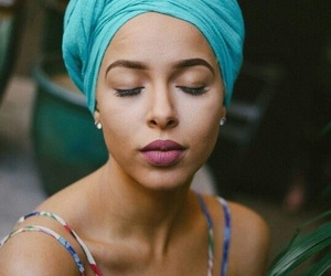 African, beautiful, and blue image