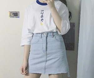 clothes, korean, and look image