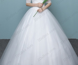 ball gown, off the shoulder, and tulle image