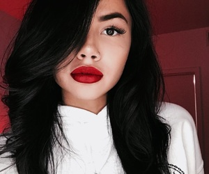 fashion, red, and makeup image