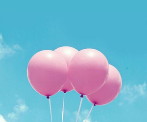 balloons, clouds, and blue image