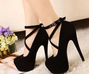 black, fancy, and shoes image