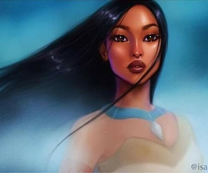 disney, pocahontas, and art image