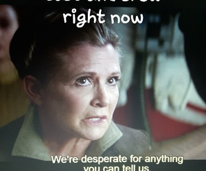 carrie fisher, star wars, and leia image