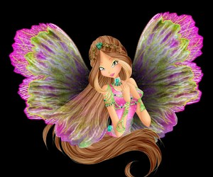 cartoon, fairy, and flora image
