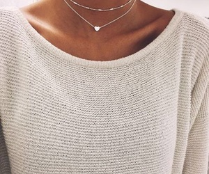 girl, necklace, and style image
