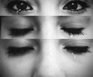 cry, eyes, and sad image