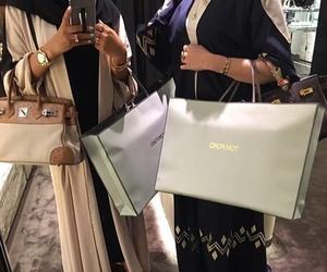 fashion, abaya, and beauty image
