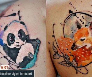art, tattoo, and watercolor tattoo art image