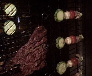 bbq, carne, and cena image