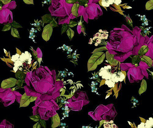 flowers, morado, and wallpaper image