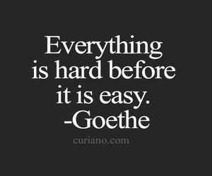 quotes, Easy, and goethe image