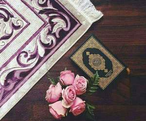 islam, flowers, and quran image