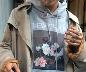 fashion, boy, and flowers image