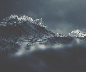 ocean, wallpaper, and wave image