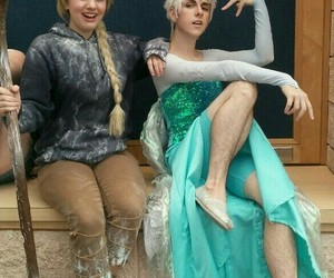 elsa, cosplay, and jack frost image