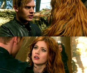 clary fray, clace, and jace herondale image