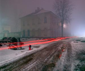 street, lights, and night image