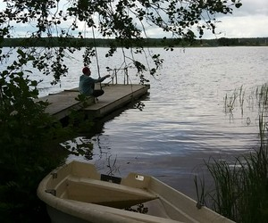 finland, fishing, and midsommar image