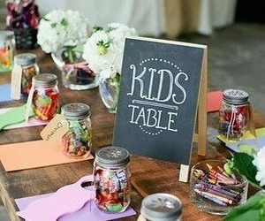 wedding, kids, and table image