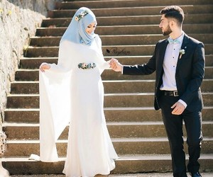 bride, hijab, and photography image