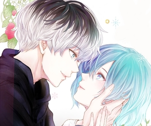 anime, couple, and touka image