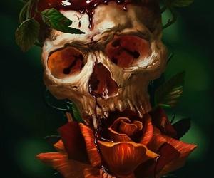 art, dark, and creepy image