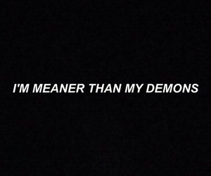 quotes, demon, and black image