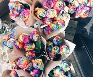 colours, fashion, and flowers image
