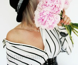 blogger, peonies, and fashion image