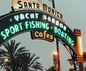 beach, cafe, and california image